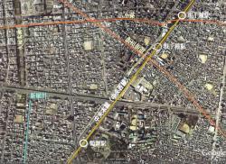 Google Earth をキャプチャー + 加筆
