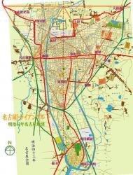 名古屋トライアングル + 路面電車