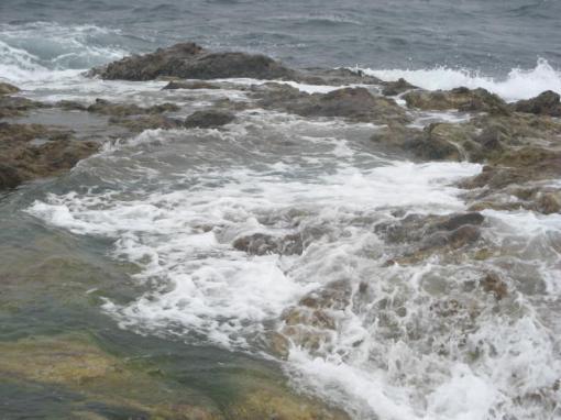 釣り座波1