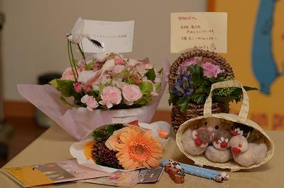 お花や手作り品♪