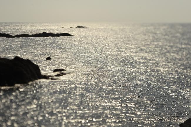ベタ凪の海