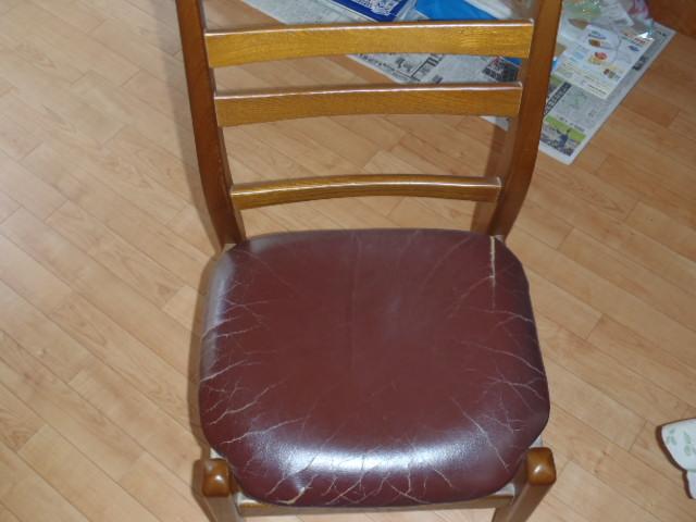 施工前の椅子