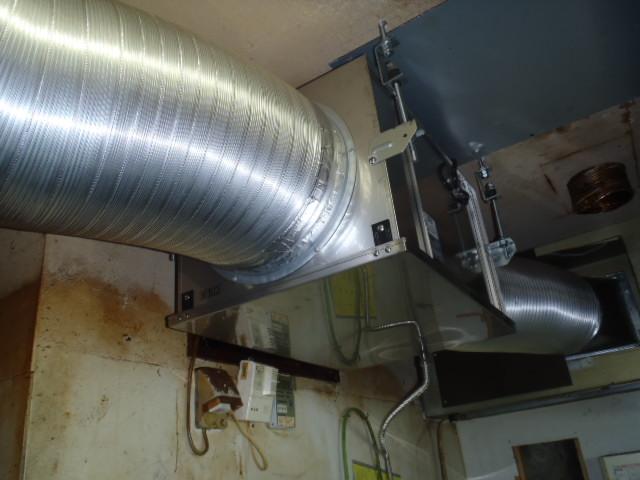 厨房用換気扇取替後