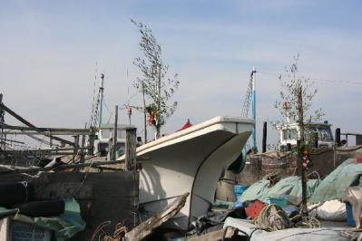 新年の漁船2