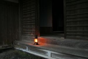 古民家でランプ