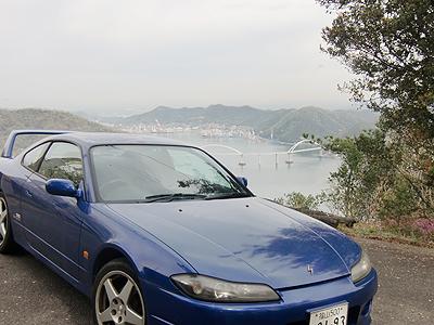 田島いこいの森…駐車場にて