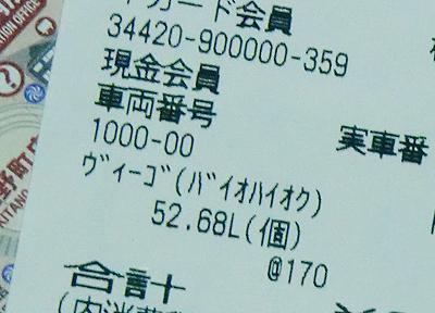 52.75Lを給油