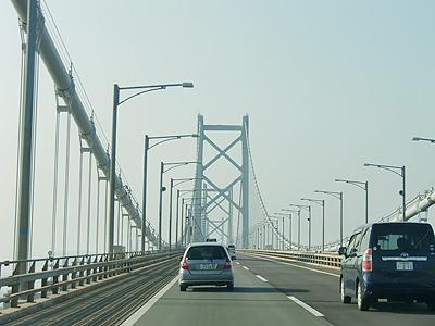 坂出から瀬戸大橋を渡り岡山県へ