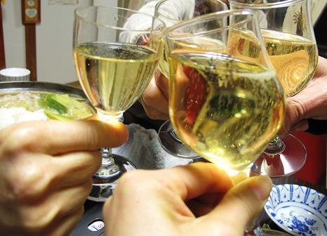 新年会シャンパン