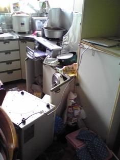 地震(台所)