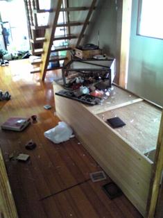 地震(廊下)