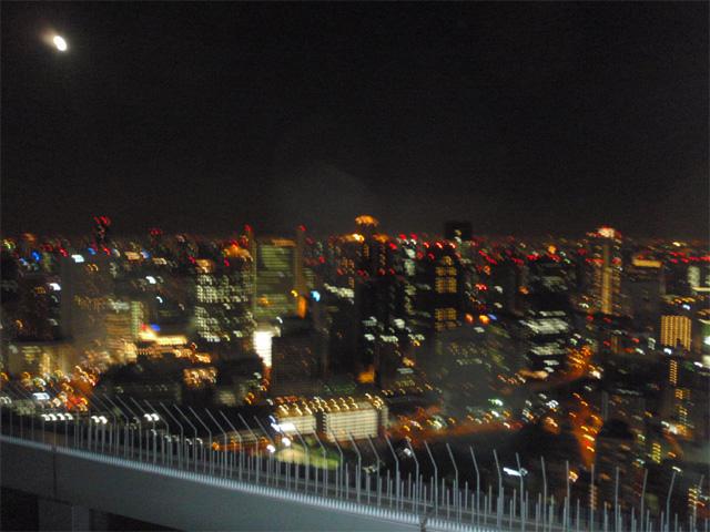 大阪の夜景…ブレてる~(^^;
