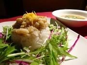 白身魚と水菜の柚子みそ丼