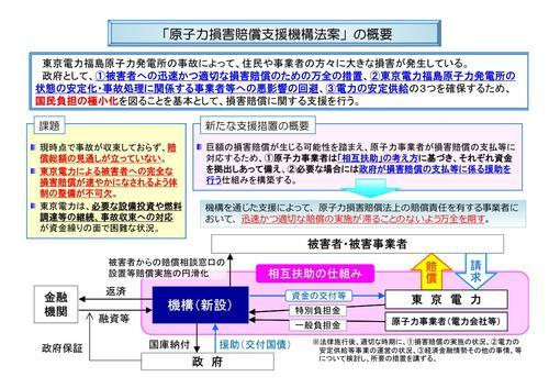 原発事故の賠償の概要図(経産省のWebページより引用)