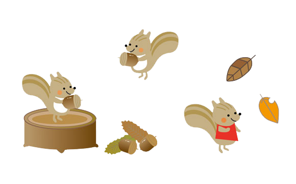 free-illustration-set-automne-squirrelのコピー