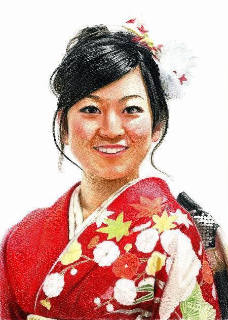 きもの やまなか公式ブログ-八神朋香様 肖像画