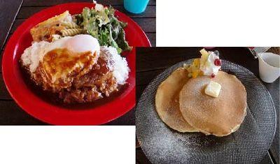 ロコモコ&パンケーキ