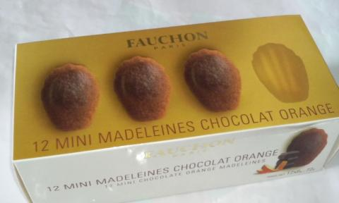 12 MINI MADELEINES CHOCOLAT ORANGE