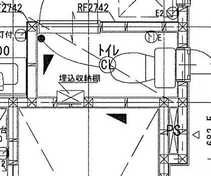 2階トイレ図面