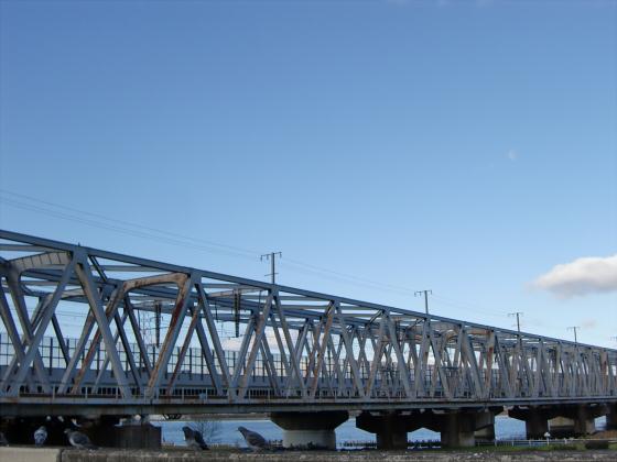 JR貨物&神戸線側の淀川橋梁09