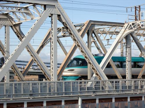 上淀川橋梁で日本海06