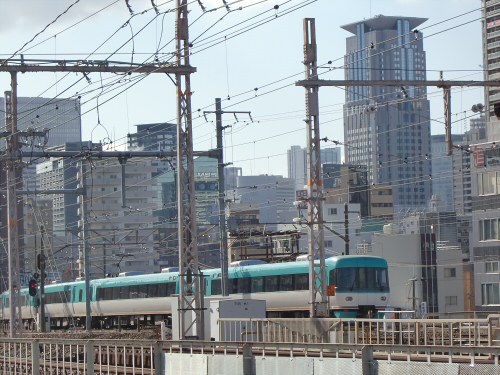 上淀川橋梁で日本海07