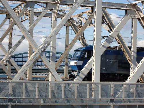 上淀川橋梁で日本海10