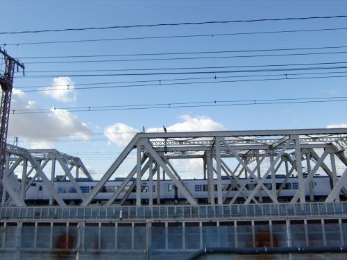 上淀川橋梁で日本海12