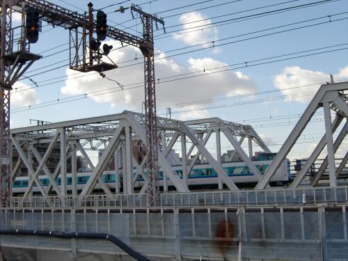 上淀川橋梁で日本海13
