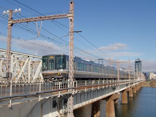上淀川橋梁で日本海19