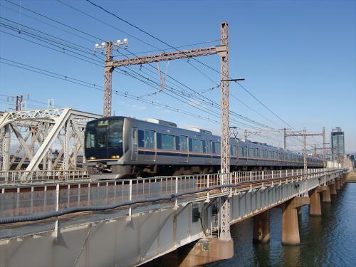 上淀川橋梁で日本海21