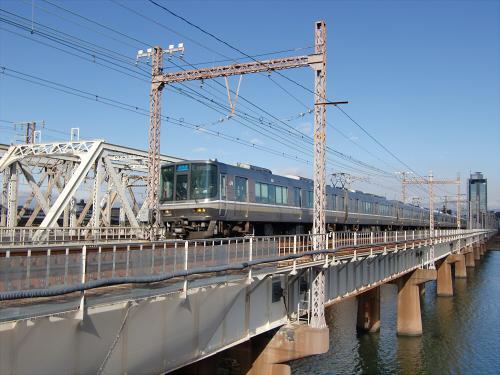 上淀川橋梁で日本海22
