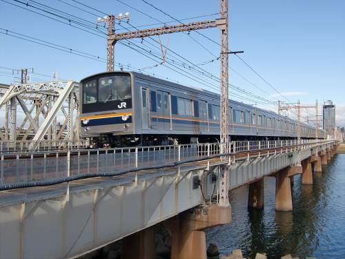 上淀川橋梁で日本海27