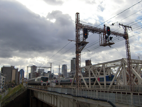 上淀川橋梁で日本海32