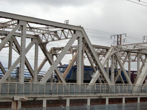 上淀川橋梁で日本海34