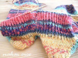 靴下同時編み2足目その2