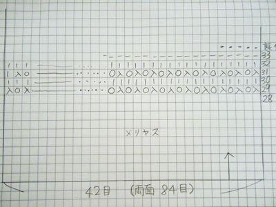 フットカバー編み方その5