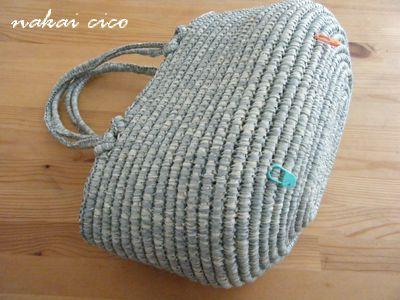 つつみ編みバッグ2