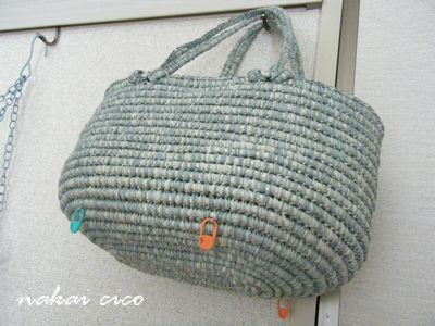 つつみ編みバッグ3