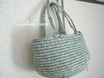 つつみ編みバッグ4