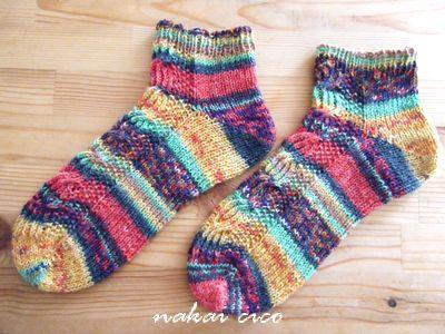 靴下opalで両足編み1