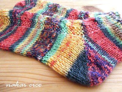靴下opalで両足編み2