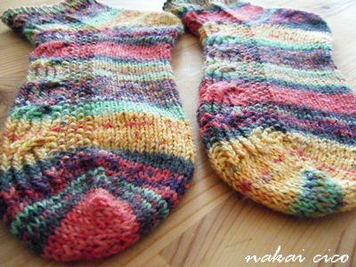 靴下opalで両足編み3