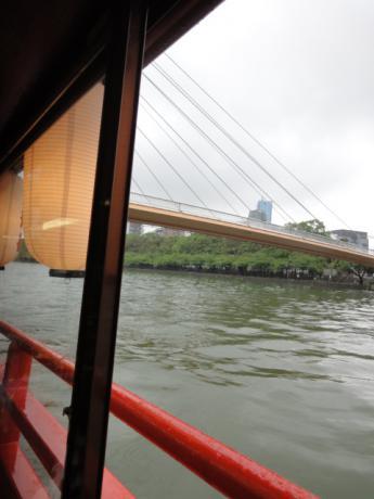 雨の大川!
