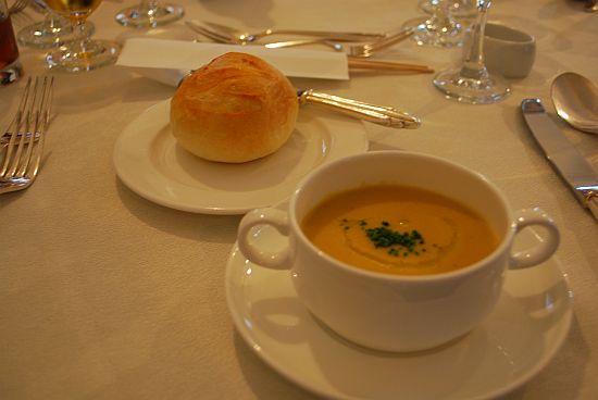 パン&季節のクリームスープ