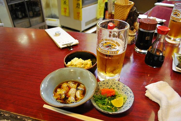 酢牡蠣、ポテサラ