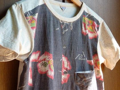 フィルメランジェのアロハなTシャツ/Filmelange Junny
