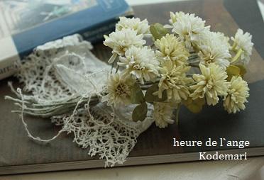 シロつめの布花