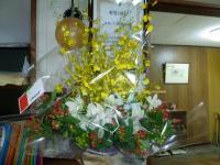 お祝いの豪華なお花たち