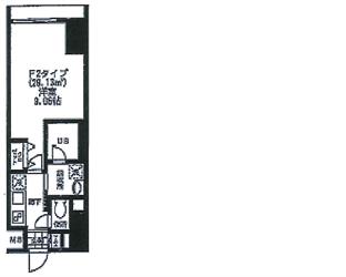 バレーヌ大森003号間取り図_R